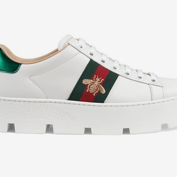 Gucci New Ace Platform Bee Sneakers