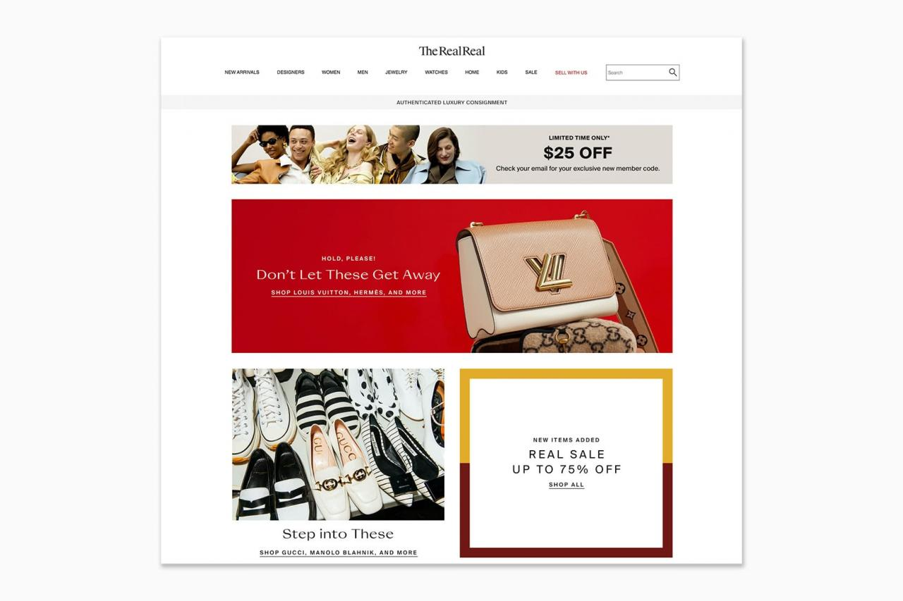 best online shopping sites women the realreal - Luxe Digital