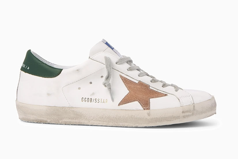 Golden Goose superstar distressed leather fashion men sneakers - Luxe Digital